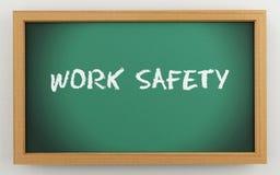 3d bord met de tekst van de het Werkveiligheid vector illustratie
