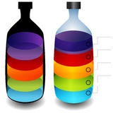 3d Bottle Chart Royalty Free Stock Images