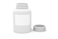 3d bottle of medicine pills. On white background Royalty Free Stock Images