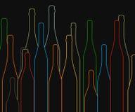 3d bottles model vit wine vektor illustrationer