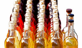 3d bottles model vit wine Royaltyfri Bild