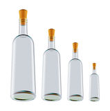 3d bottles model vit wine Stock Illustrationer