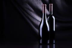 3d bottles model vit wine Arkivbilder