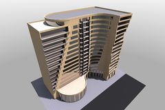3D bouw geeft in Armenië terug Royalty-vrije Stock Afbeelding