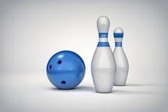 3D bowling background. 3D bowling  background illustration Royalty Free Stock Photos