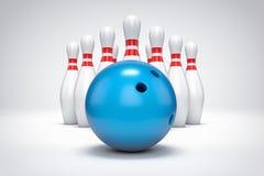 3D bowling background. 3D bowling  background illustration Stock Image