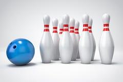 3D bowling background. 3D bowling  background illustration Stock Photo