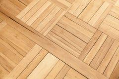 Dębowy drewno parkietowy z geometrycznym wzorem Obraz Royalty Free
