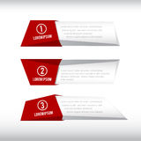 3D box banner red and grey 002 Royalty Free Stock Images