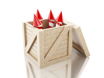 3d Box with fireworks Royalty Free Stock Image