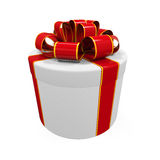 3d box gift image white Fotografia Royalty Free