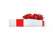 3d box gift image white Ilustracja Wektor