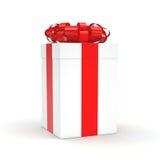 3d box gift image white Fotografia Stock
