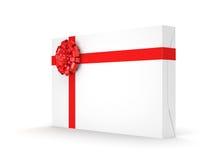 3d box gift image white Zdjęcia Stock