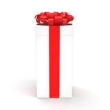3d box gift image white Zdjęcie Stock