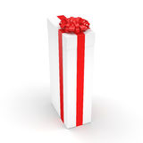 3d box gift image white Obraz Royalty Free
