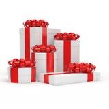 3d box gift image white Royalty Ilustracja