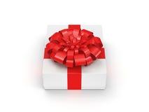 3d box gift image white Obrazy Stock