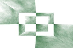 3d box. Illustration of an abstract dark green and white room Stock Images
