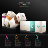 3d box infographics Stock Images