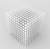 It is 3d box. Stock Image