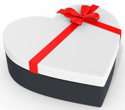 3d box in the shape of heart Royalty Free Stock Image