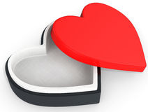 3d box in the shape of heart Stock Photo