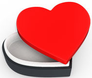 3d box in the shape of heart Stock Photography