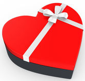 3d box in the shape of heart Royalty Free Stock Photos