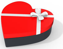 3d box in the shape of heart Royalty Free Stock Photo