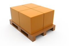 3d box storage concept Royalty Free Stock Images
