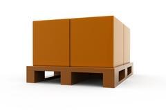 3d box storage concept Stock Photos