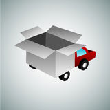 3d Box Truck Stock Photography