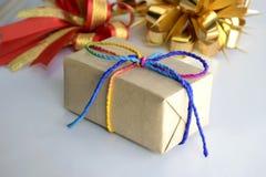 3d boxe礼品白色 库存图片
