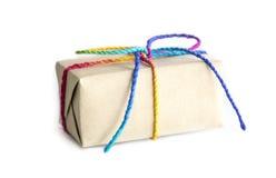 3d boxe礼品白色 免版税库存图片