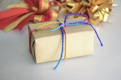 3d boxe prezenta biel Obrazy Royalty Free