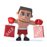 3d Boxer has been to the sales Stock Photography