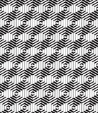 3d boxes geometric optical seamless pattern. 3d boxes geometric optical seamless pattern, black and white vector background Stock Photography