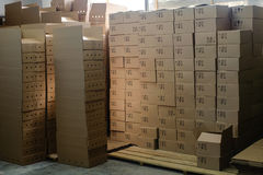 3d boxes papp frambragd bild Royaltyfri Bild