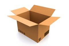 3d boxes papp frambragd bild Arkivbilder
