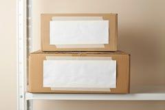3d boxes papp frambragd bild Fotografering för Bildbyråer