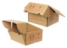 3d boxes papp frambragd bild Arkivfoto