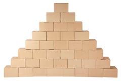 3d boxes papp frambragd bild boxes pyramiden Fotografering för Bildbyråer