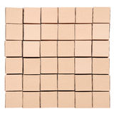 3d boxes papp frambragd bild boxes pyramiden Arkivfoto