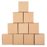 3d boxes papp frambragd bild boxes pyramiden Royaltyfri Foto