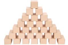 3d boxes papp frambragd bild boxes pyramiden Royaltyfria Bilder