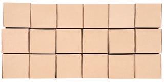 3d boxes papp frambragd bild boxes pyramiden Royaltyfria Foton