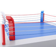 3d Boxing ring against  white background. 3d renderer image. 3d Boxing ring against  white background. Sports concept Royalty Free Stock Photos