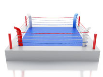 3d Boxing ring against  white background. 3d renderer image. 3d Boxing ring against  white background. Sports concept Royalty Free Stock Image