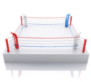 3d Boxing ring against  white background. 3d renderer image. 3d Boxing ring against  white background. Sports concept Stock Photography